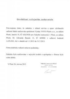 Fakultní nemocnice Plzeň - servis