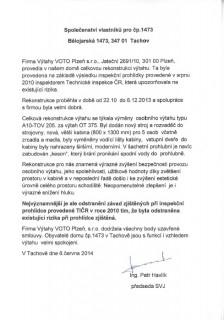 Společenství vlastníků pro čp.1473 Bělojarská, Tachov