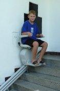 Schodišťový výtah rodinného domu v Rokycanech
