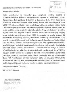Společenství vlastníků Spartakiádní 1979 Sokolov