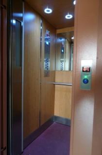 Kabinový prostor výtahu v Horní Bříze