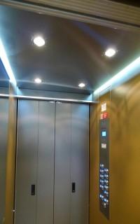 Kabinový prostor s ovládáním výtahu